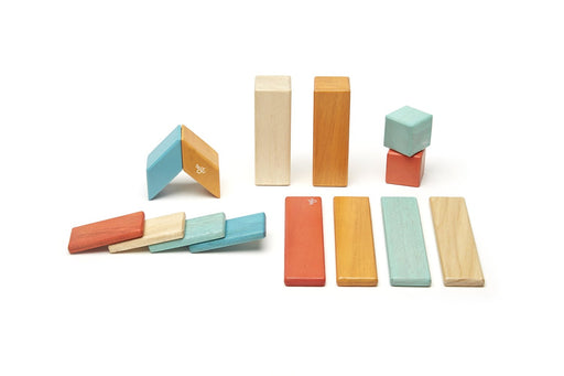 Tegu Magnetic Blocks - 14-Piece Sunset Set