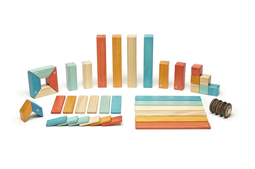 Tegu Magnetic Blocks - 42-Piece Sunset Set