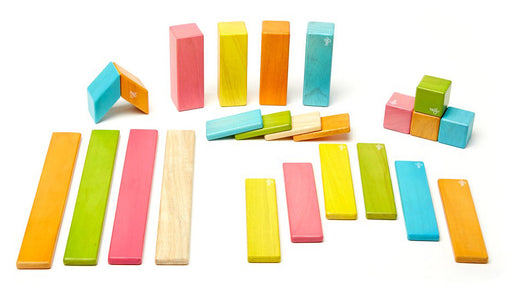 Tegu Magnetic Blocks - 24-Piece Tints Set
