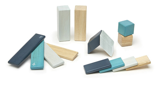Tegu Magnetic Blocks - 14 Piece Blues Set