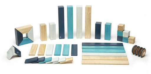 Tegu Magnetic Blocks - 42 Piece Blues Set