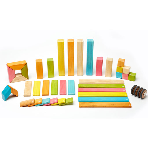 Tegu Magnetic Blocks - 42-Piece Set Tints