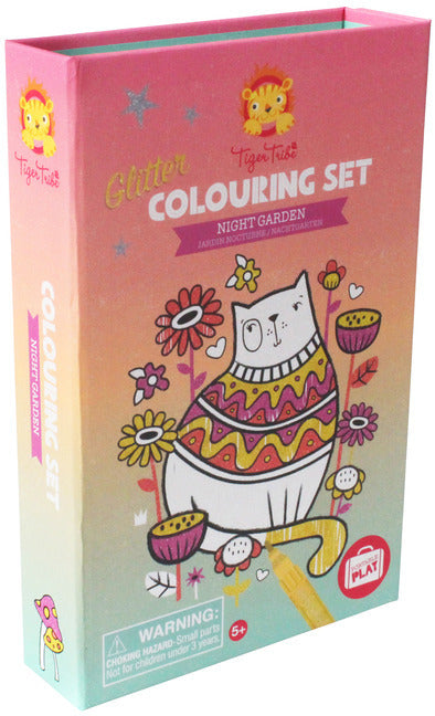 Tiger Tribe Glitter Colouring Set - Night Garden