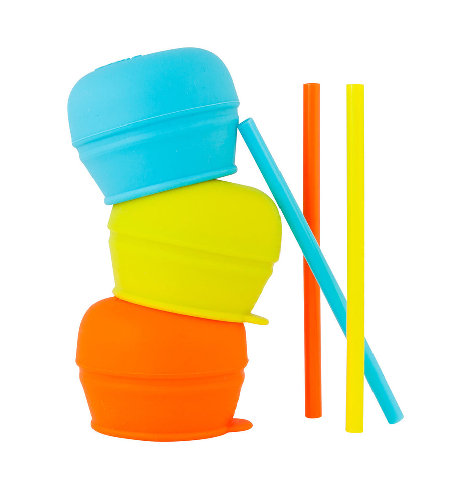 Boon Snug Straw Silicone Lids 3-Pack