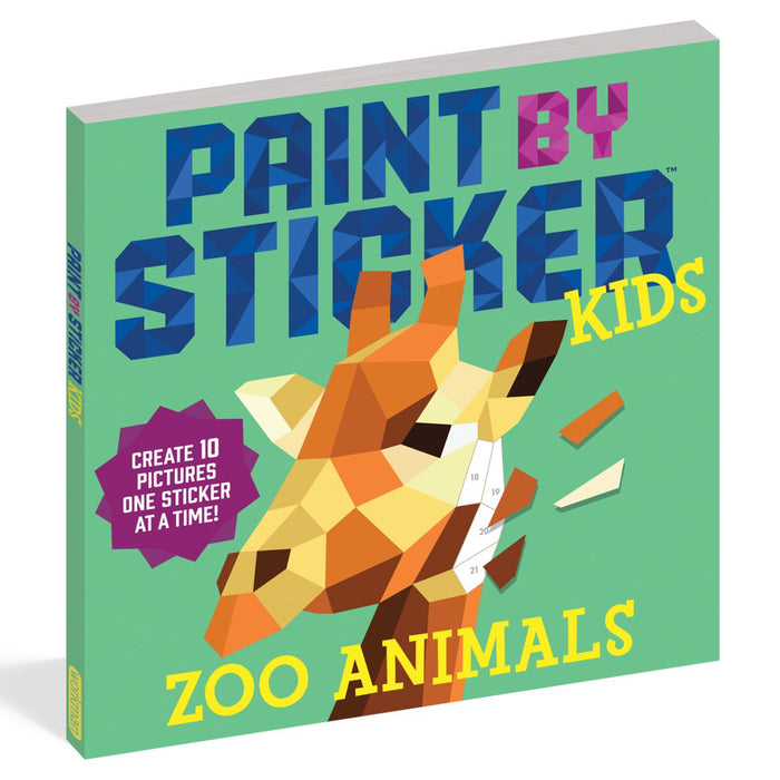 Paint By Sticker Kids - Zoo Animals