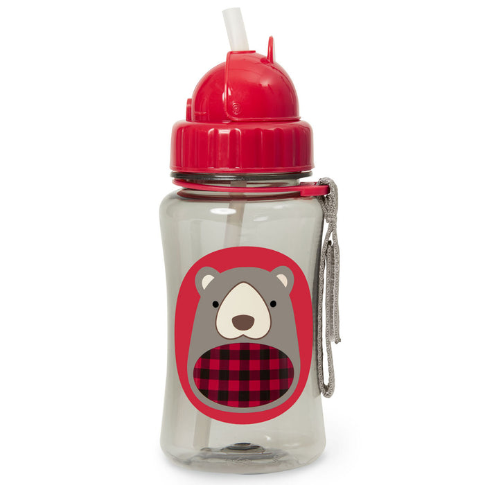 Zoo Straw Bottle - Winter Bear