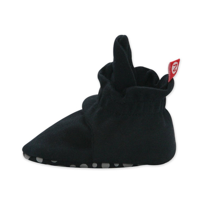 Zutano Cotton Gripper Bootie - Black