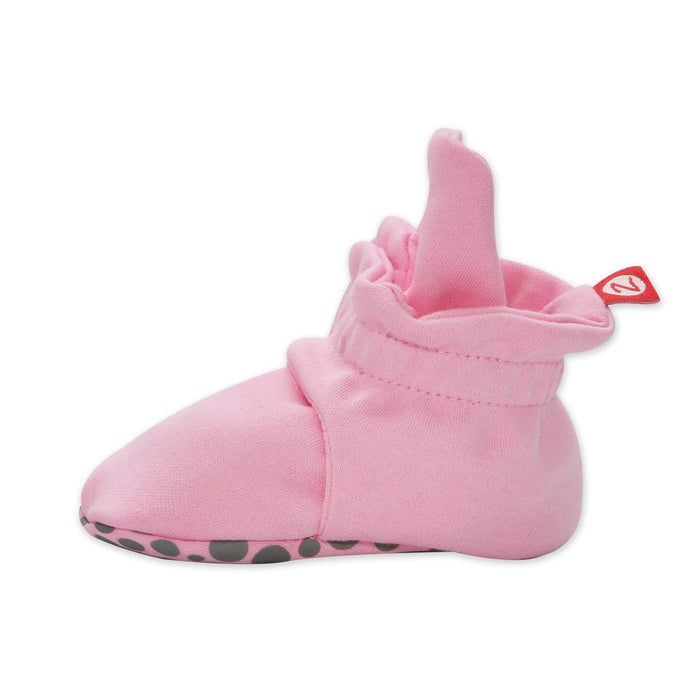 Zutano Cotton Gripper Bootie - Hot Pink