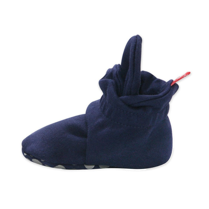 Zutano Cotton Gripper Bootie - Navy