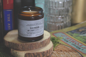 Oakwood Scented Soy Candle | 100% Non GMO Soy Wax/Repurposed Glass/Natural, Non Toxic Oils | Hand Poured in Salt Lake City, UT | 15% of every sales goes towards suicide prevention #candles4acause
