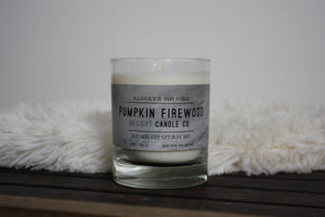 Pumpkin Firewood Candle | 100% Non GMO Soy Wax