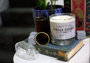 Vanilla Bourbon Scented Soy Candle | 100% Non GMO Soy Wax/Repurposed Glass/Natural, Non Toxic Oils | Hand Poured in Salt Lake City, UT | 15% of every sales goes towards suicide prevention #candles4acause
