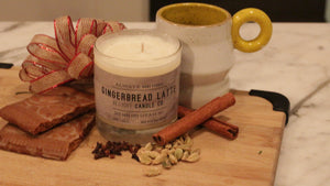 Gingerbread Latte Scented Soy Candle | 100% Non GMO Soy Wax/Repurposed Glass/Natural, Non Toxic Oils | Hand Poured in Salt Lake City, UT | 15% of every sales goes towards suicide prevention #candles4acause