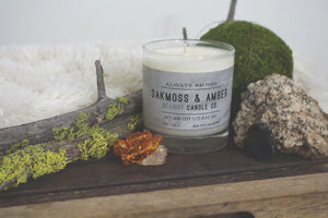 Oakmoss & Amber Soy Candle | 100% Non GMO Soy Wax