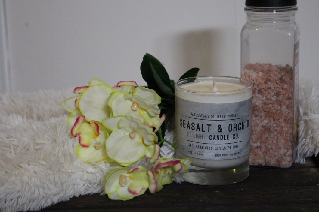 Sea Salt & Orchid Candle | 100% Non GMO Soy Wax