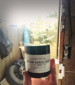Indian Sandalwood Candle   |  100% Soy Wax  |  Non-Toxic Oils  |  15% Goes toward suicide prevention