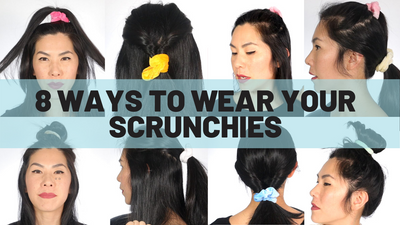 8 WAYS TO WEAR A SCRUNCHIE
