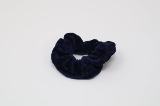 dark blue scrunchie