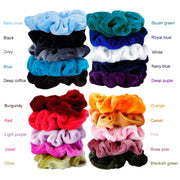 20 pcs Velvet Hair Scrunchies