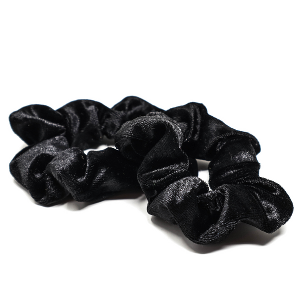 Black Velvet Scrunchies 10 Pack