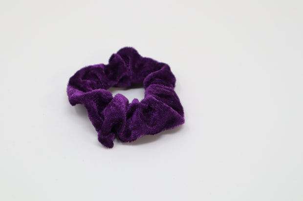 dark purple scrunchie