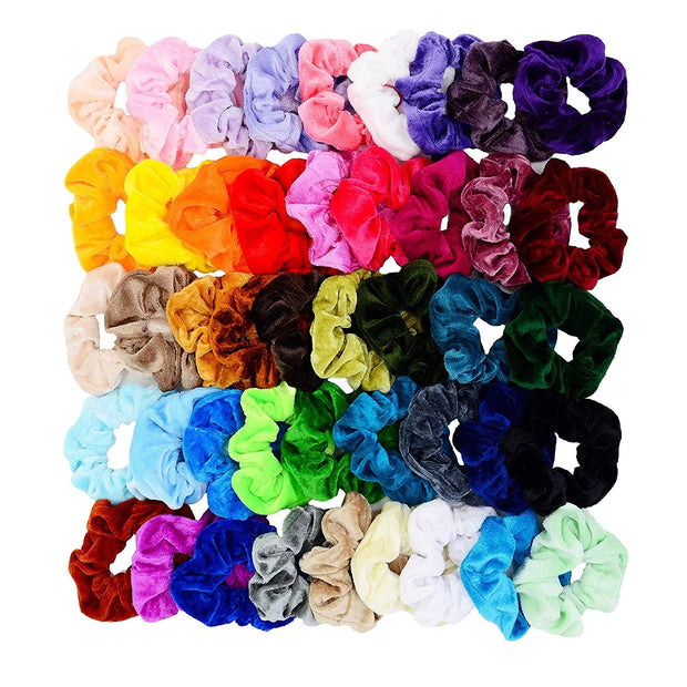45 pcs Velvet Hair Scrunchies