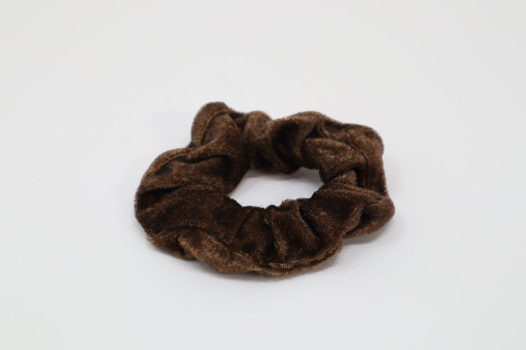 dark brown scrunchie