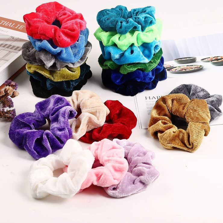 50 pcs Velvet Hair Scrunchies Set