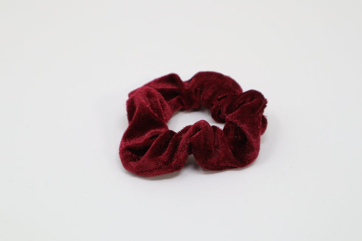 dark red scrunchies