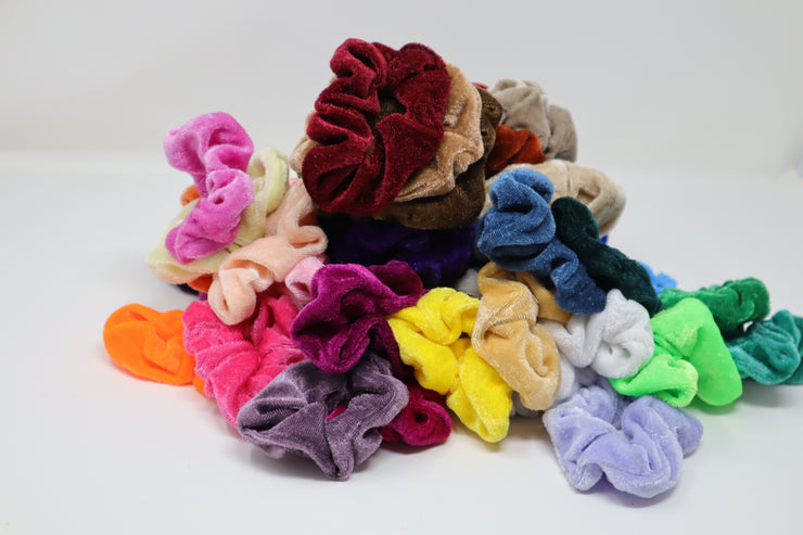 60 pc Velvet Hair Scrunchies