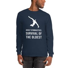 Load image into Gallery viewer, Adult Gymnastics: Survival of the Oldest - Long Sleeve T