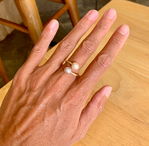 Load image into Gallery viewer, Pink Edison Pearl Wrap Ring