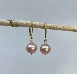 Pink Edison Pearl Drop Earrings