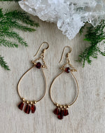 Mighty Aphrodite Earrings - Garnet