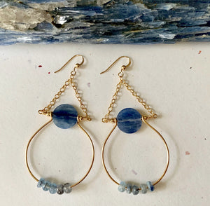 Load image into Gallery viewer, Mighty Aphrodite Earrings - Kyanite - Water Element Creations