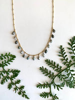 Tahitian Keshi Dangle Short Necklace - 15 pearl