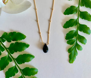 Spinel Short Necklace - single stone
