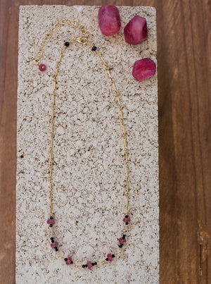 Ruby + Spinel Choker