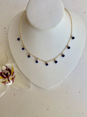 Lapis Lazuli Dangle Layer Necklace