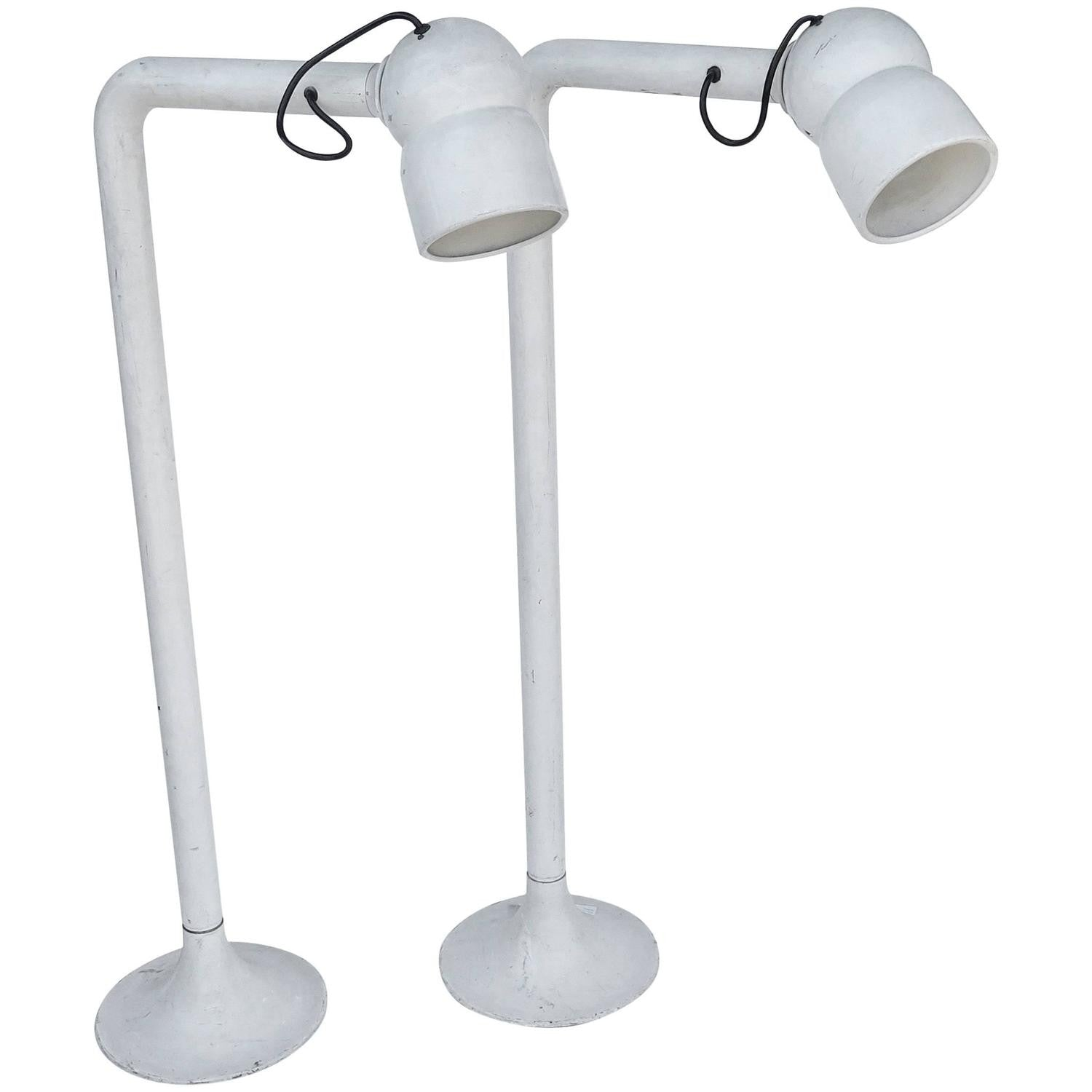 modern table lighting. Pair Of Modern Italian Industrial Floor Or Table Lights Lighting
