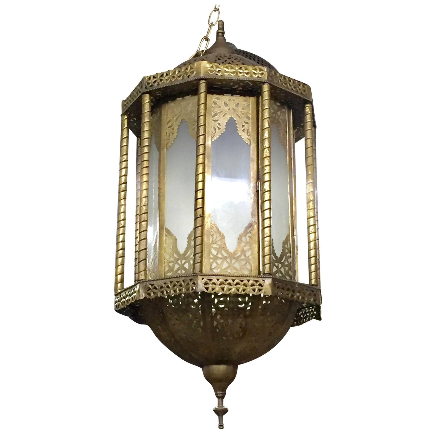 Holly moroccan brass and glass hanging chandelier or lantern holly moroccan brass and glass hanging chandelier or lantern mozeypictures Gallery