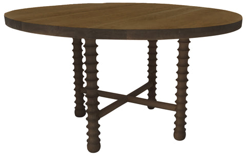 1DT  Ojai Round Dining Table By Haskell