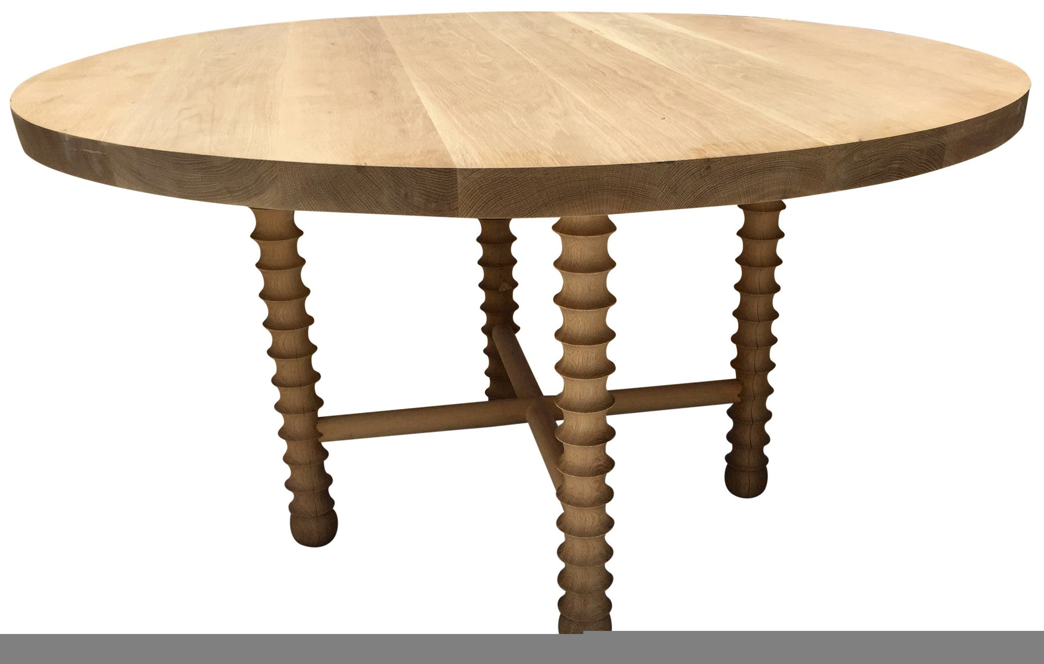 Modern Large White Oak Round Dining Table Haskell Design Haskell