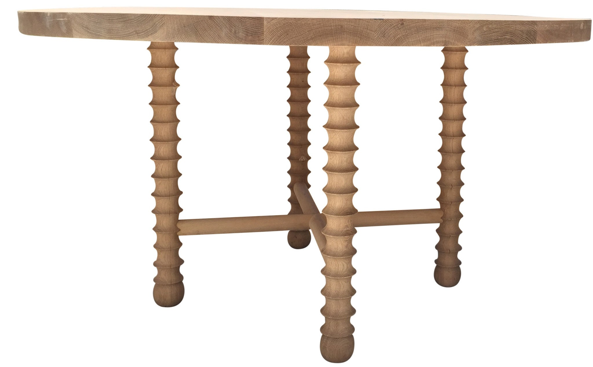 1DT  Ojai Round Dining Table Natural White Oak By Haskell
