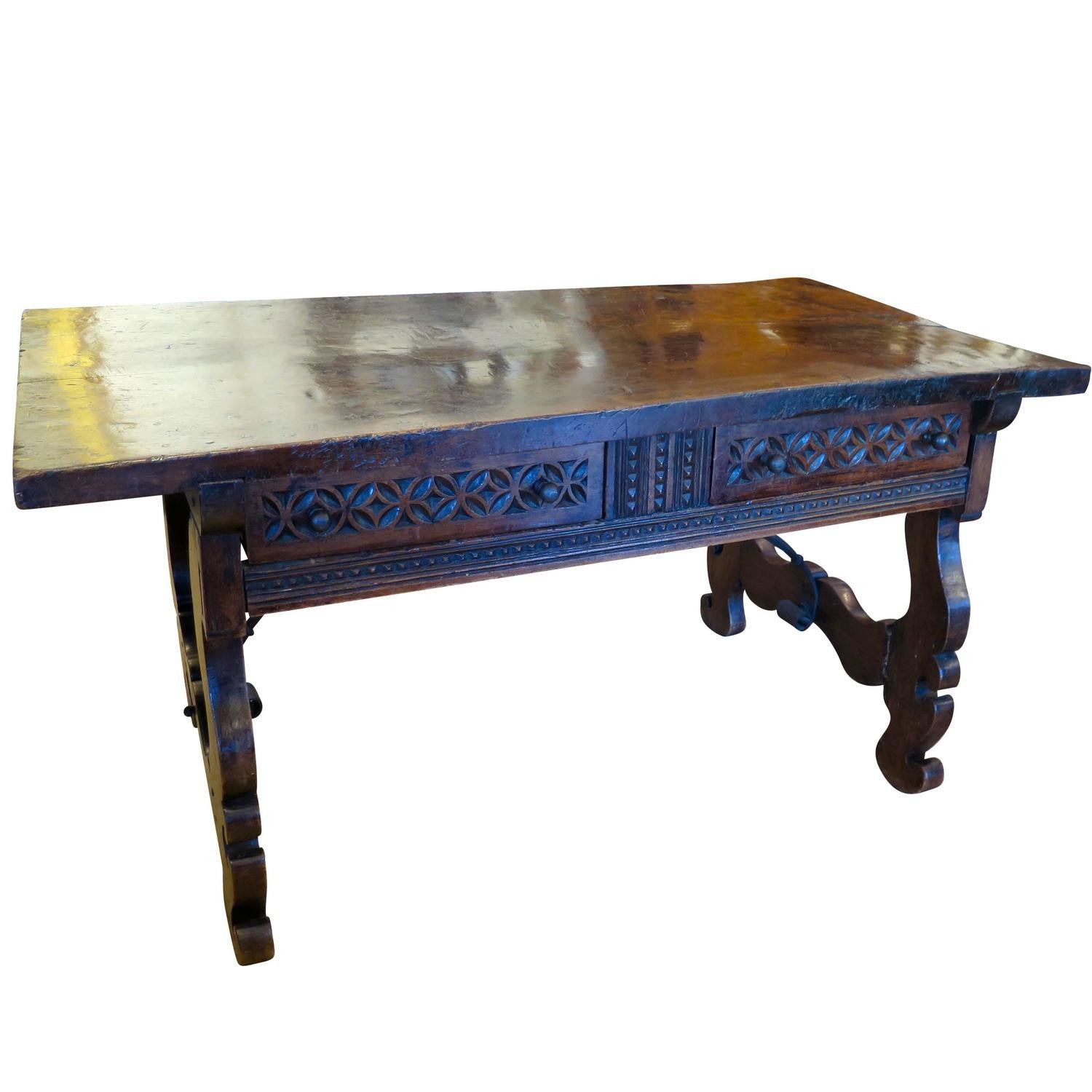 Excellent 17th Century Spanish Walnut Console Table