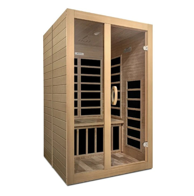 Santiago - 2 Person Low EMF FAR Infrared Sauna - www.babylife4u.com