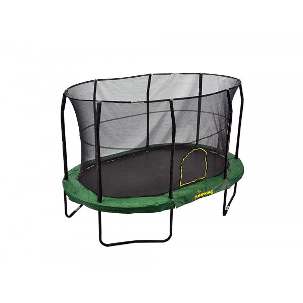 Jumpking Oval 9' x 14' With Solid Green Pad - www.babylife4u.com