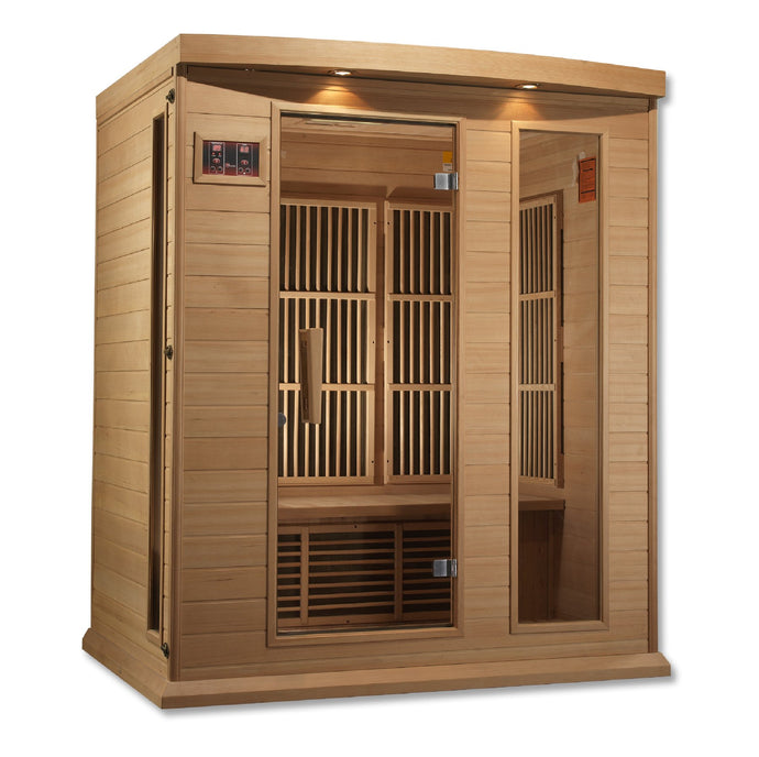 Maxxus 3 Per Low EMF FAR Infrared Carbon Canadian Hemlock Sauna - www.babylife4u.com