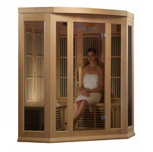 Load image into Gallery viewer, Maxxus 3 Per Corner Low EMF FAR Infrared Carbon Canadian Hemlock Sauna - www.babylife4u.com