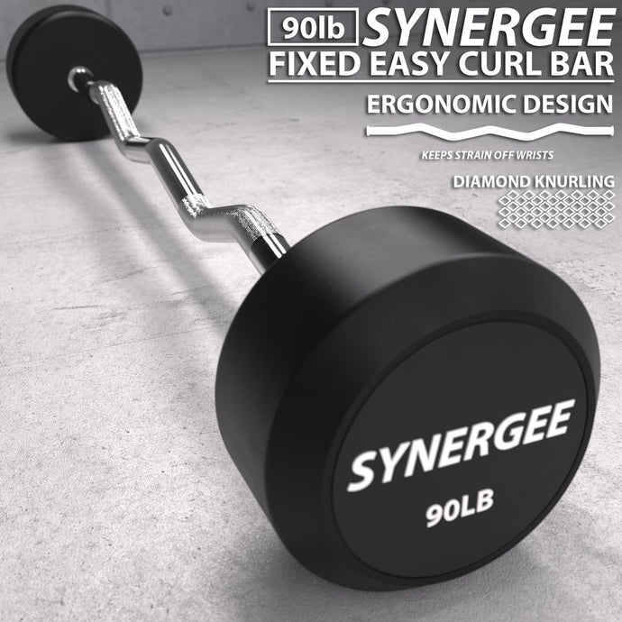 Synergee Fixed Easy Curl Barbell - www.babylife4u.com